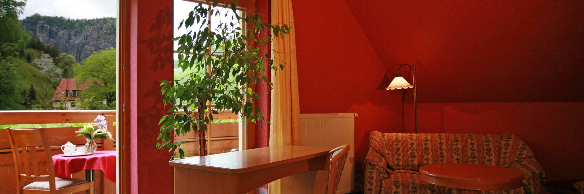 Zimmer im Hotel Amselgrundschlößchen